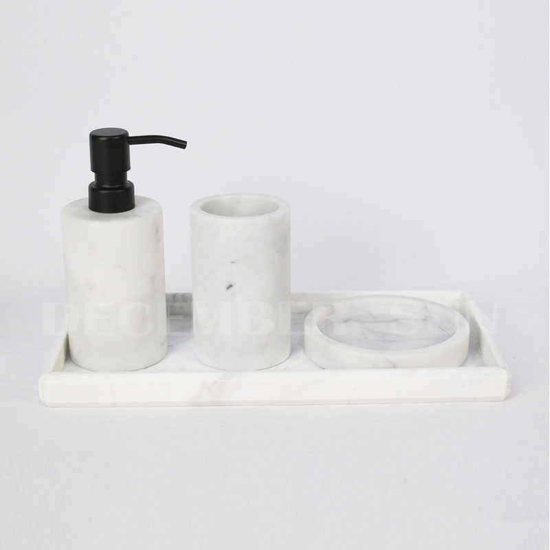 Wholesale marble bath accessories set for bathroom